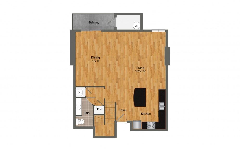B8 - 2 bedroom floorplan layout with 2.5 baths and 2188 square feet. (Floor 1)